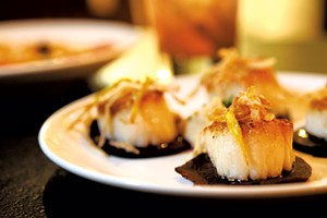 Seared scallops at the Bench - FILE: JEB WALLACE-BRODEUR