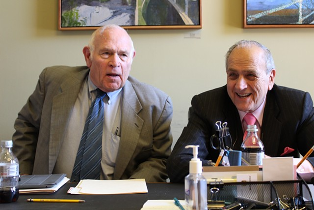 Sen. Dick Sears (L) and Sen. Dick Mazza (R) - PAUL HEINTZ