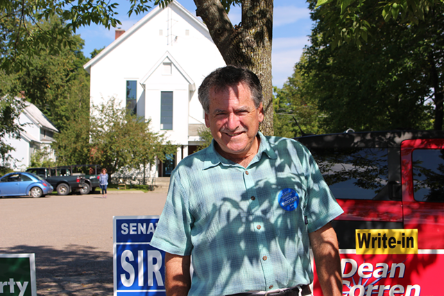 Sen. Michael Sirotkin on primary election day. - PAUL HEINTZ