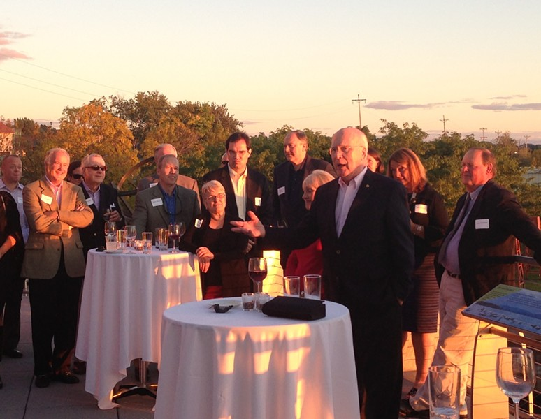 Sen. Patrick Leahy at a fundraiser in fall 2013 at the ECHO Lake Aquarium and Science Center - FILE: PAUL HEINTZ