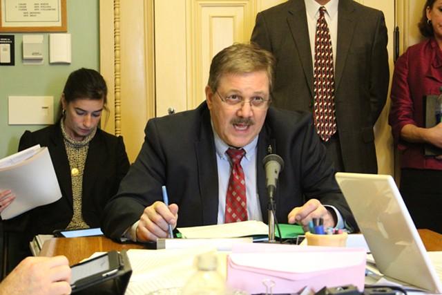 Secretary of State Jim Condos testifies in the Senate Government Operations Committee - FILE: PAUL HEINTZ