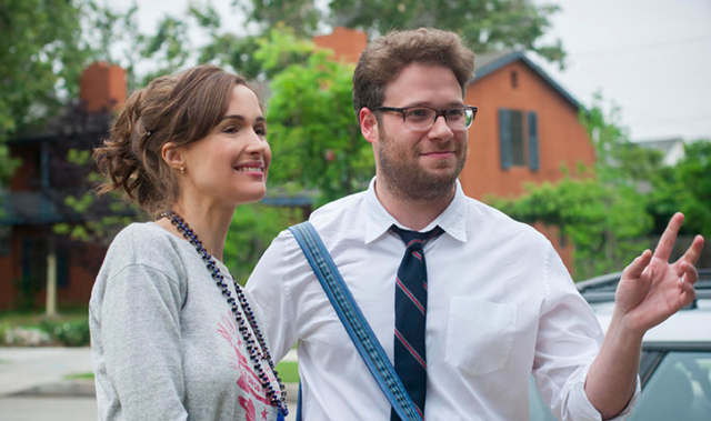 Seth Rogen with Rose Byrne in 'Neighbors.' - UNIVERSAL PICTURES