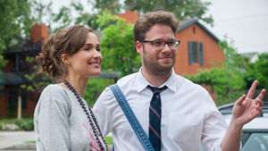 Seth Rogen with Rose Byrne in 'Neighbors.'