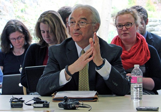 Attorney General Bill Sorrell testifies before the Senate Committee on Government Operations - FILE: PAUL HEINTZ