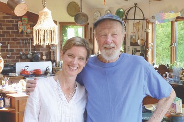Shyla Nelson with Pete Seeger