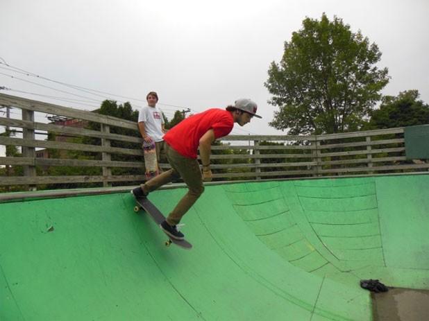 Skateboarder at the Burlington skate park