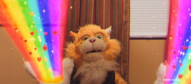 """Smarf, the magical alien robot cat in """"Too Many Cooks"""" - ADULT SWIM"""