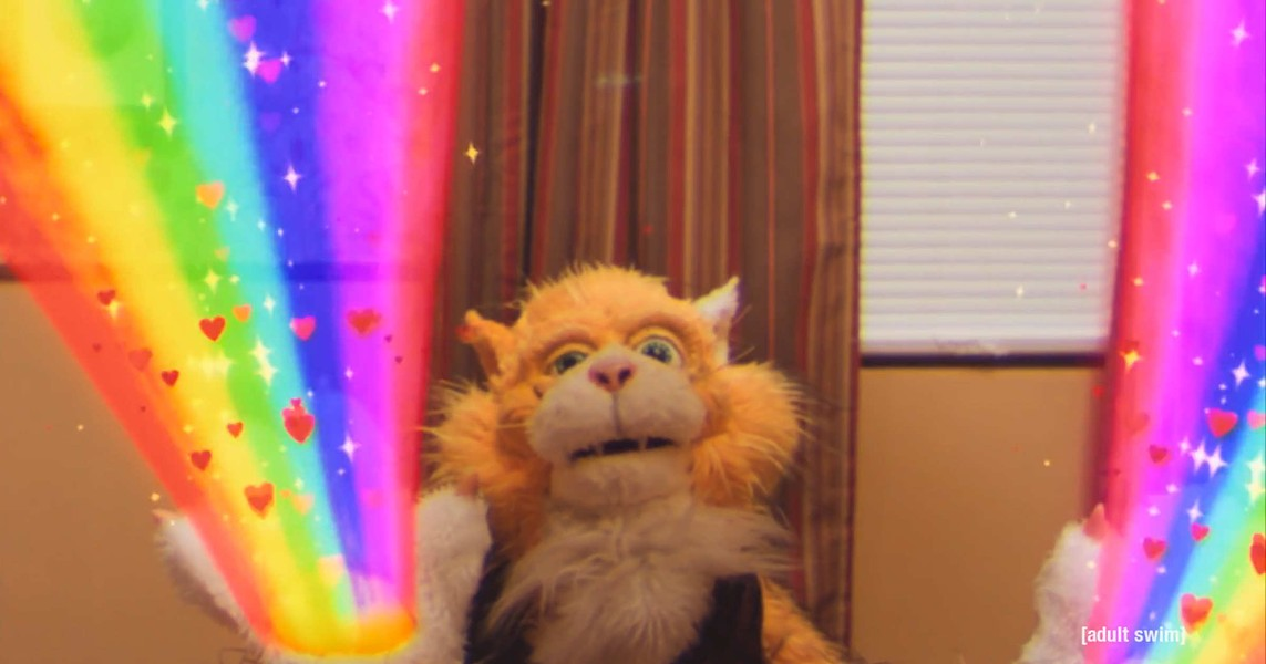 "Smarf, the magical alien robot cat in ""Too Many Cooks"" - ADULT SWIM"