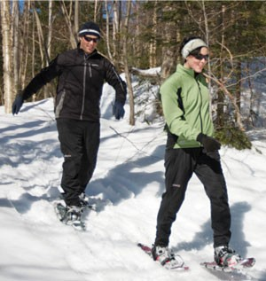 Snowshoeing at Bolton Valley - JUSTIN CASH