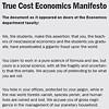 "St. Michael's Economics Professors Receive a ""Manifesto"""