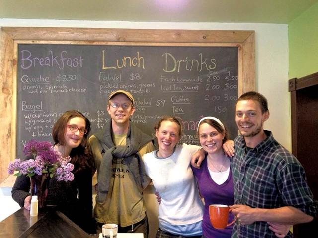 Staff at the Clover Mead Café & Farm Store