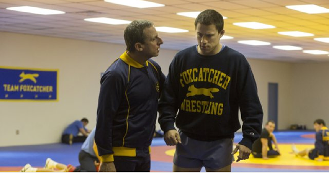 Steve Carell and Channing Tatum in Foxcatcher. - SONY CLASSICS