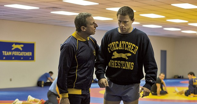 Steve Carell and Channing Tatum in Foxcatcher - COURTESY OF JON KILIK