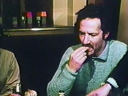 Still from Werner Herzog Eats His Shoe