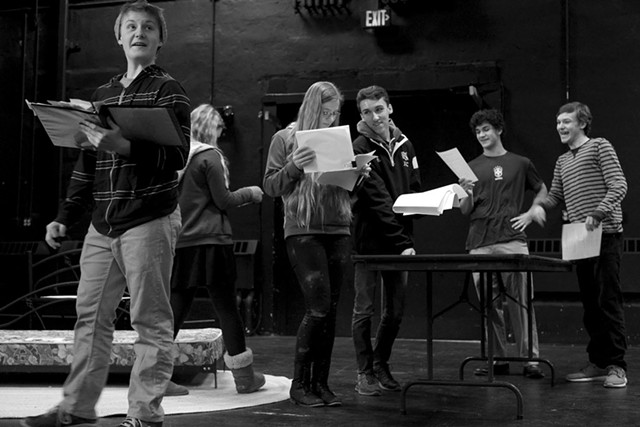 Student actors rehearsing M or F? - COURTESY OF TIM CALABRO