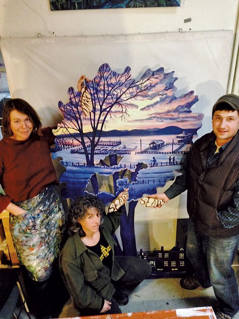 Tara Goreau (left), Terry Zigmund, and Matt Gang