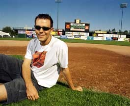 TEAM PLAYER Chris Kirkpatrick interned with Vermont's boys of summer, the Expos