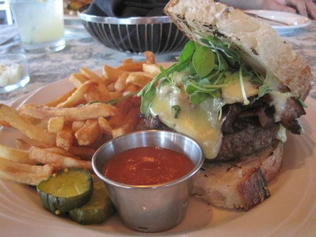 The burger at Barn Door - ALICE LEVITT