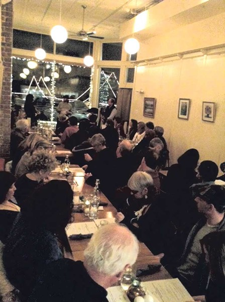 The dining crowd at Claire's - COURTESY OF HARRISON LITTELL