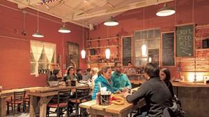 The dining room at ArtsRiot
