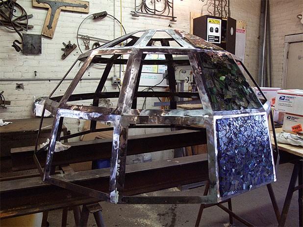 The dome in progress
