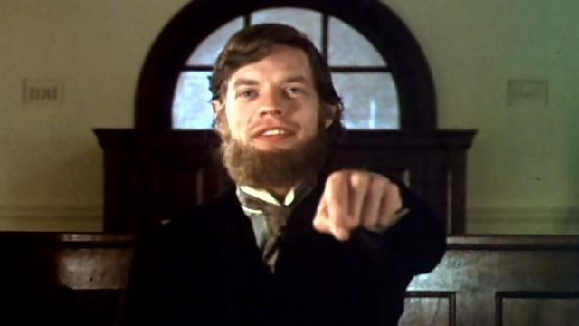 The final shot of Ned Kelly, in which the title character invites his hanging judge to join him in Hell. - MGM PICTURES