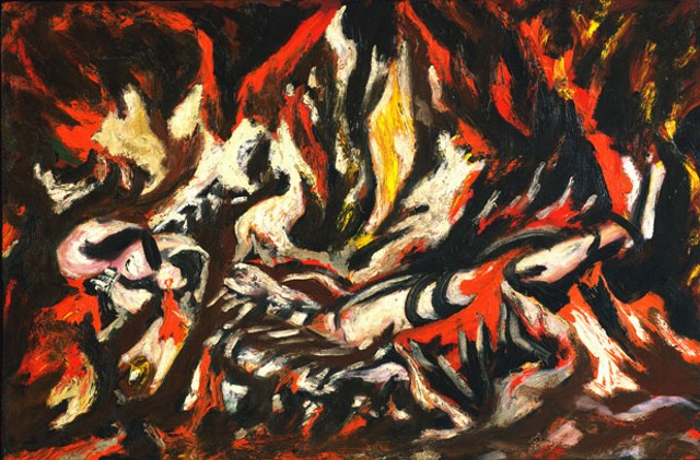 """The Flame"" by Jackson Pollock"