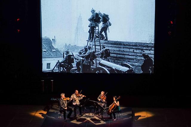 "The Kronos Quartet performing ""Beyond Zero"" - COURTESY OF THE HOPKINS CENTER FOR THE ARTS"