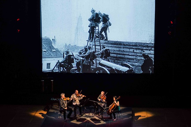 "The Kronos Quartet performing ""Beyond Zero"" - COURTESY OF THE HOPKINS CENTER FOR THE ARTS"