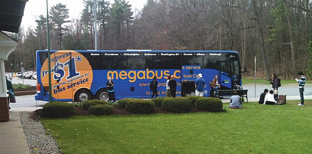The megabus stopped at Saratoga Casino and Raceway