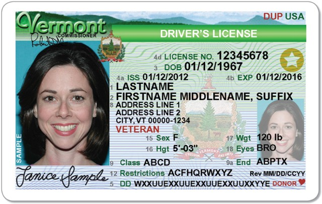 Real ID for Vermont from DMV site