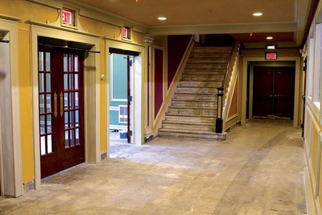 The not-yet-renovated lobby of the Strand - SEVEN DAYS FILE PHOTO