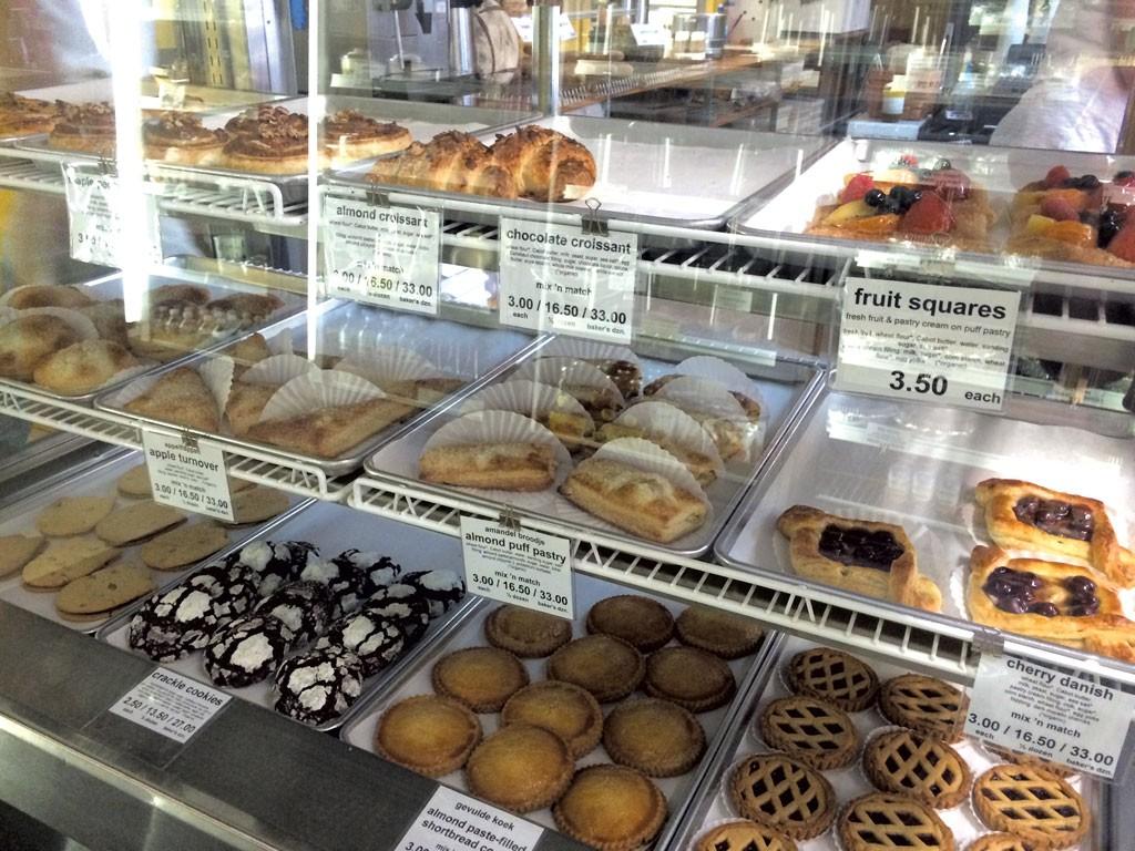 The pastry case at Bakkerij Krijnen - ALICE LEVITT