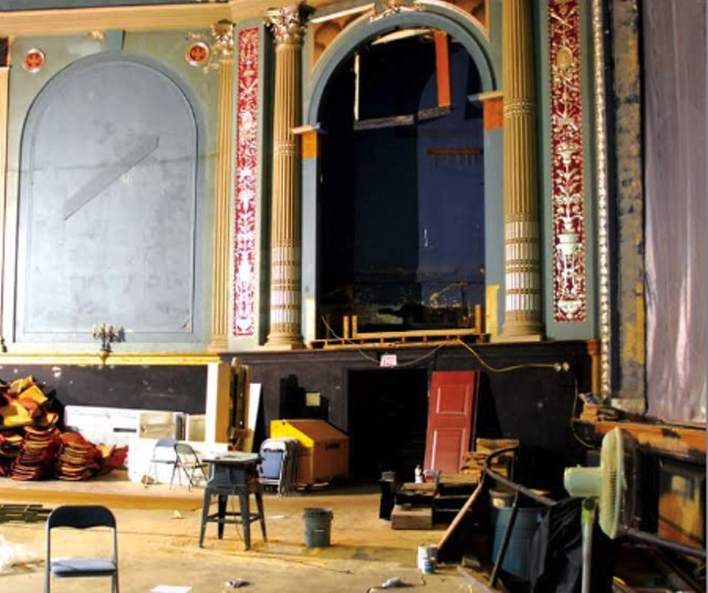 The Strand Theater, mid-renovation - SEVEN DAYS FILE PHOTO