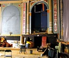 The Strand Theater, mid-renovation