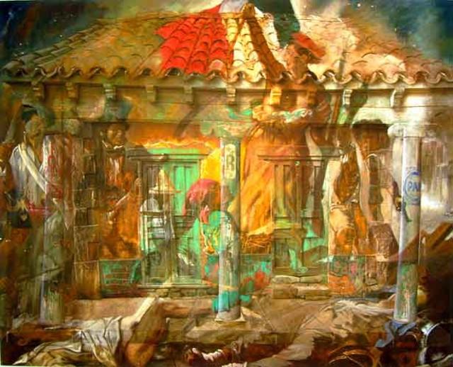 """The Terrible Angel of Freedom"" by Rafael Cauduro"
