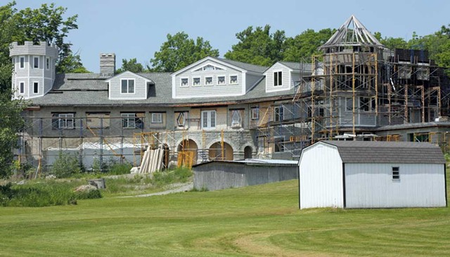 The unfinished residence of Tina and James Bayne - COURTESY OF KEN PICARD