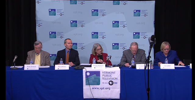 The VPT Board at today's meeting - VERMONT PUBLIC TELEVISION SCREEN CAPTURE