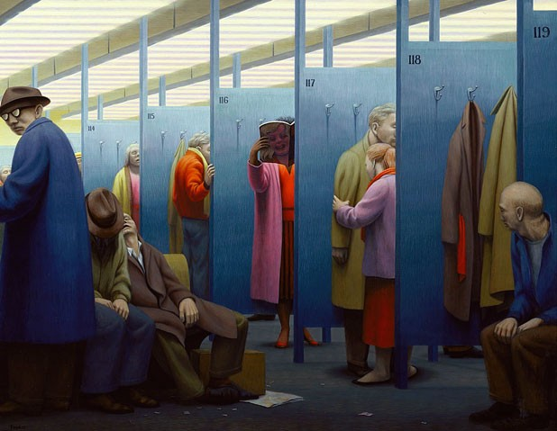 """The Waiting Room,"" by George Tooker, 1959"