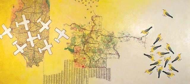 """Tierra Amarilla Encaustic"" by Paig Berg Rizvi"