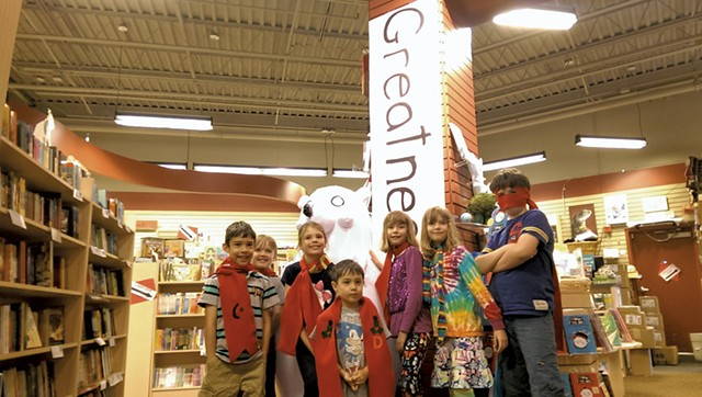 """Timmy Failure """"Total Takeover"""" Party at Phoenix Books in Essex - COURTESY OF KARI MEUTSCH"""