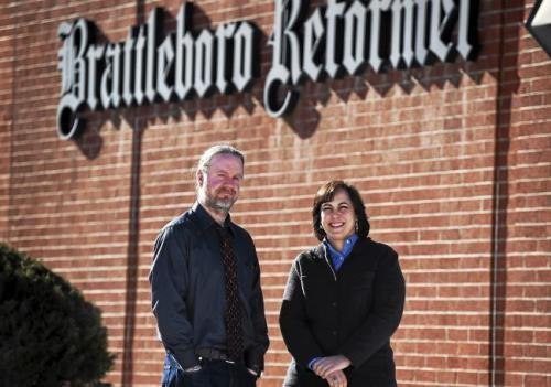 Tom D'Errico and Michelle Karas - COURTESY: BRATTLEBORO REFORMER