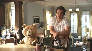 TOY STORY: Wahlberg shares the screen with a computer-generated teddy in the feature debut from Seth MacFarlane.