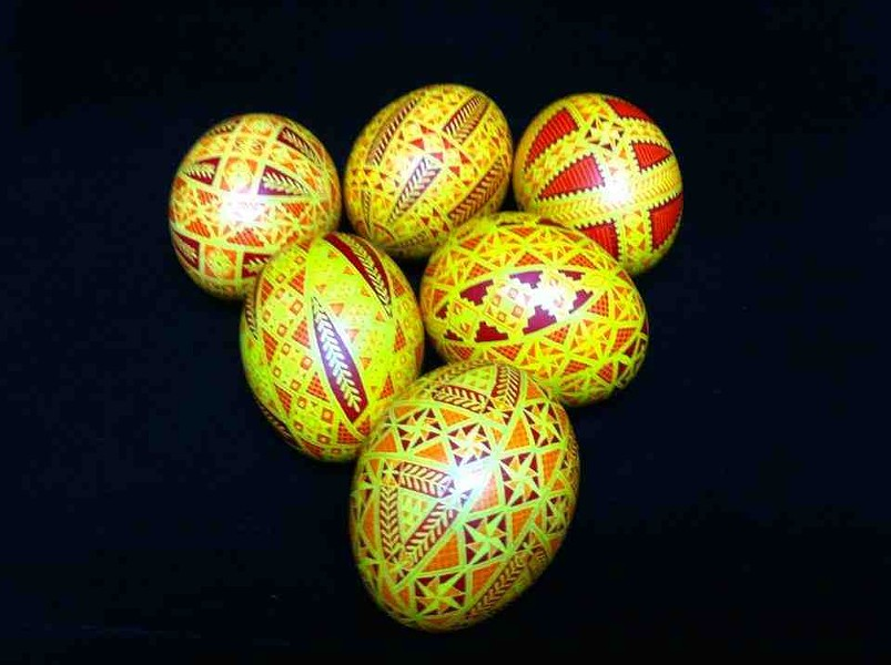 Traditional Ukrainian-style painted eggs - COURTESY OF THERESA SOMERSET