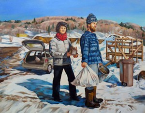 "COURTESY OF THE TUNBRIDGE PUBLIC LIBRARY - ""Transfer Station"" by Lyal Michel"