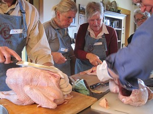ALICE LEVITT - Turducken class at Turkey Hill Farm