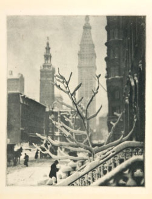 """""""Two Towers - New York"""" by Alfred Stieglitz"""