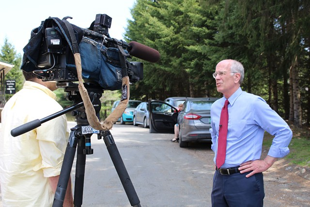 Congressman Peter Welch at the Alchemist Cannery in May 2014 - PAUL HEINTZ