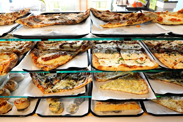 Slice case at Pizza on Main - JEB WALLACE-BRODEUR