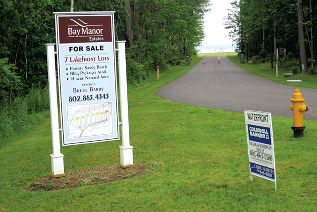 The former Camp Holy Cross lakefront property is for sale in Colchester - MATTHEW THORSEN